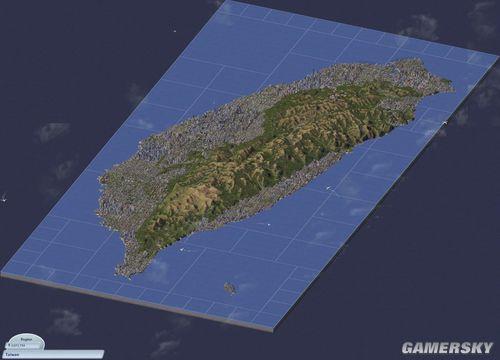 模拟城市4牛人完全还原台湾岛